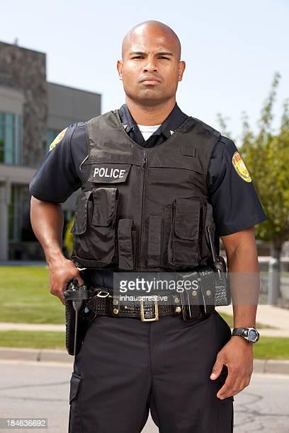 African American officier de Police