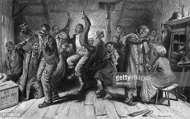 Negro prayer meeting in a contraband camp in Washington 1862 'Oh I'm gwine home to glory won't yen go along wid me Whar de blessed angels beckon an'...