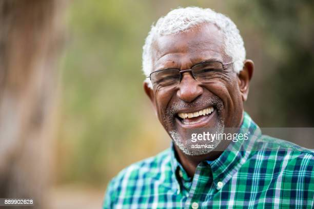 African American Senior Man in Nature Portrait