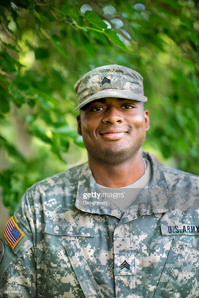African American Sergeant U.S. Army : Stock Photo