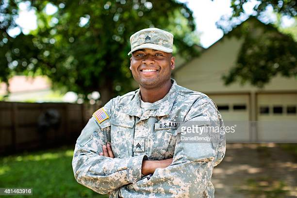 african american sergeant u.s. army - us military stock pictures, royalty-free photos & images