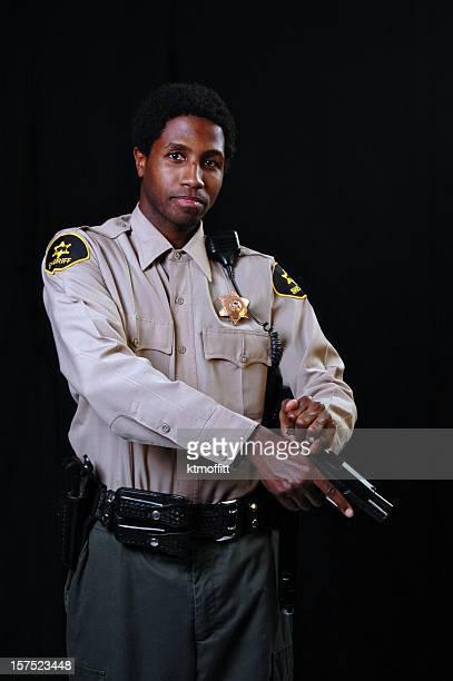 African American Sheriff with Gun