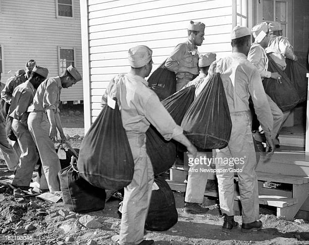 African American soldiers move into their barracks 1942