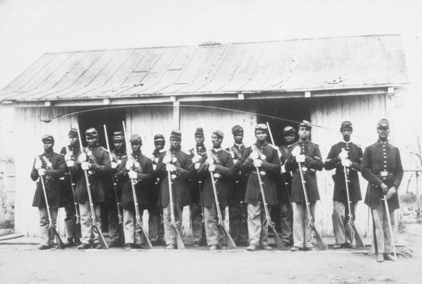 African American soldiers of the 107th US Coloured...