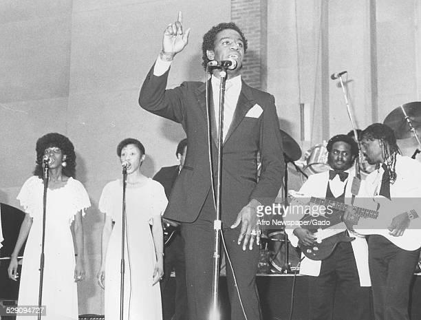 African American soul singer Al Green, 1984.