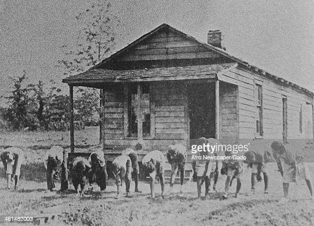 African American students at a segregated school following the supreme court case Plessy vs Ferguson established Separate But Equal, 1896.