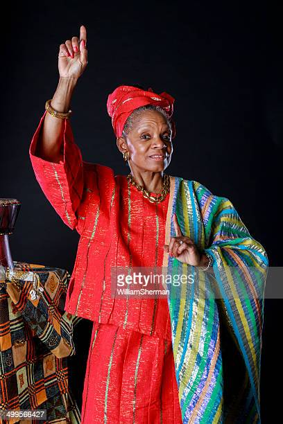 african american woman - dashiki stock photos and pictures