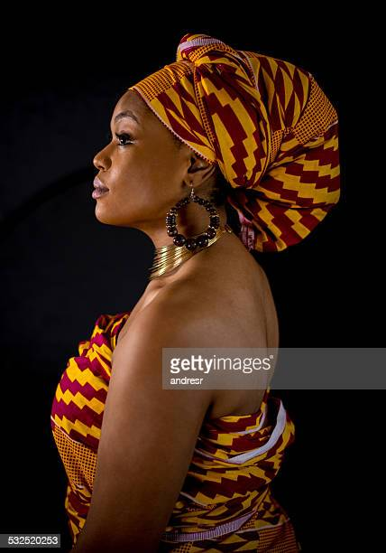 african american woman - headscarf stock pictures, royalty-free photos & images