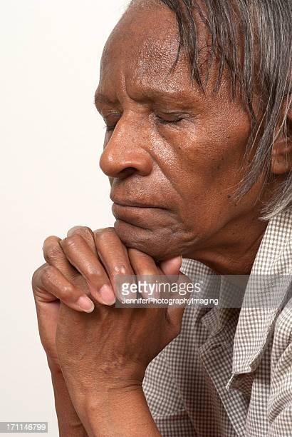 African American Woman Praying