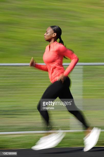 african american woman running - ogphoto stock pictures, royalty-free photos & images