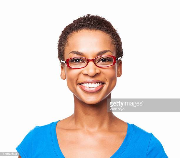 African American Woman Smiling - Isolated