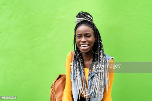African American Woman with Dreadlocks Portrait