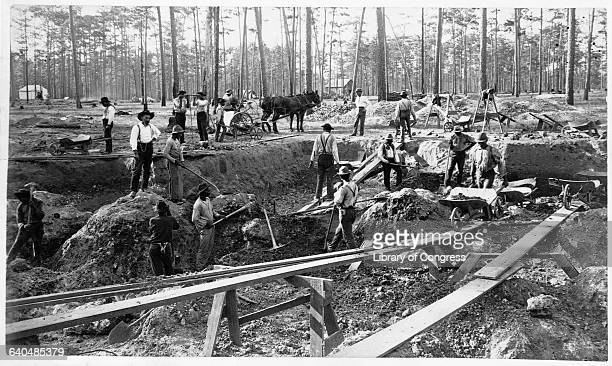 African American workers dig pit mine no 2 for the Dunnelon Phosphate Company Ocala Florida 1890 | Location Dunnelon Phosphate Company Ocala Florida...