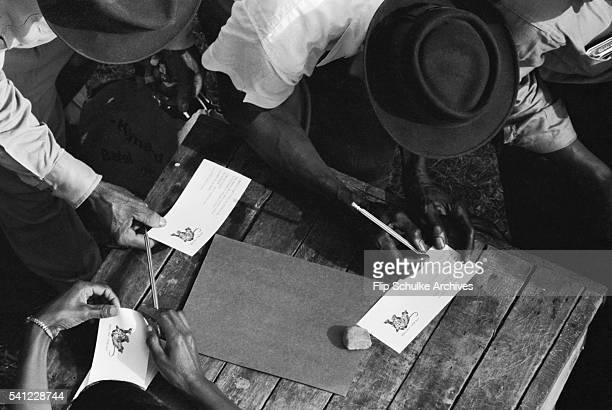 African Americans vote for the first time in Alabama after enactment of the Voting Rights Act.