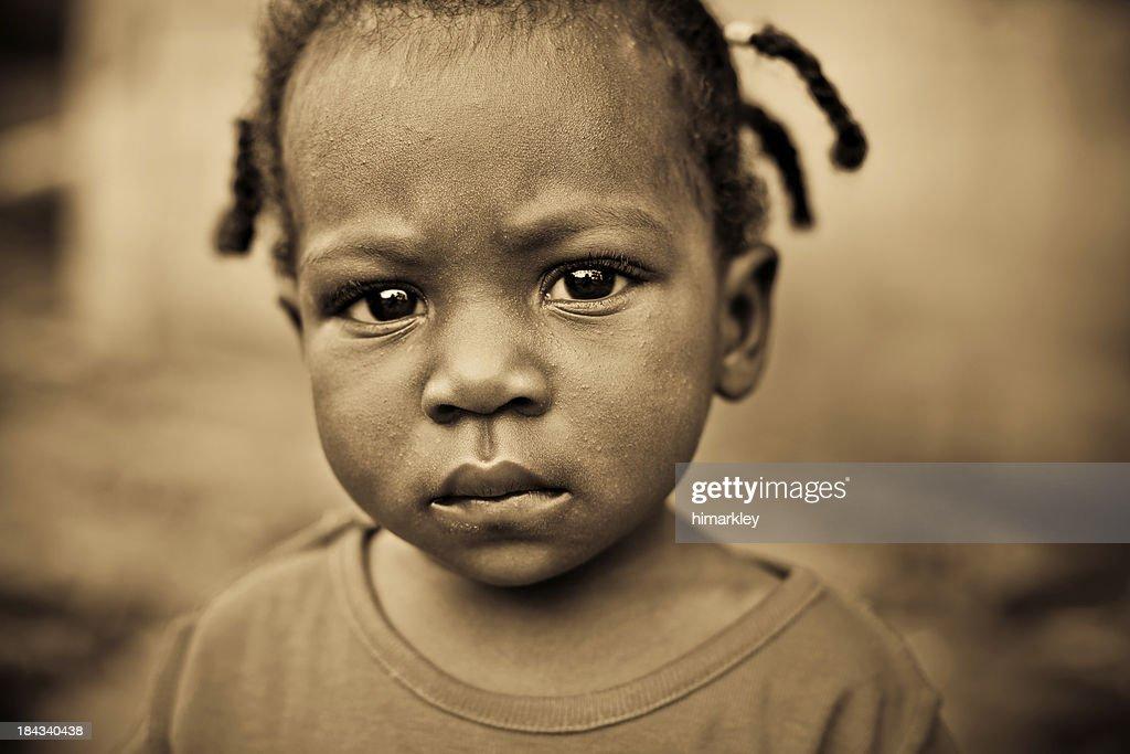 African Baby Girl : Stock Photo