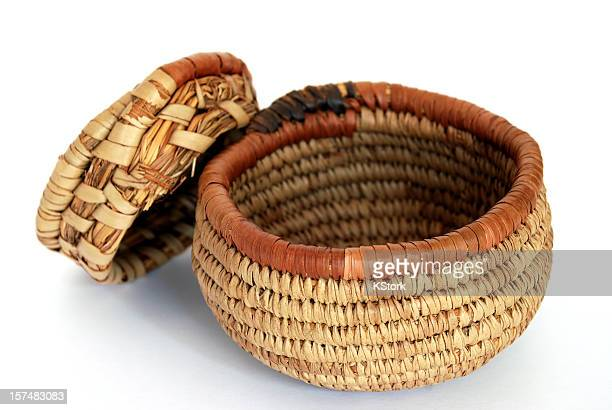 African Basket with Lid
