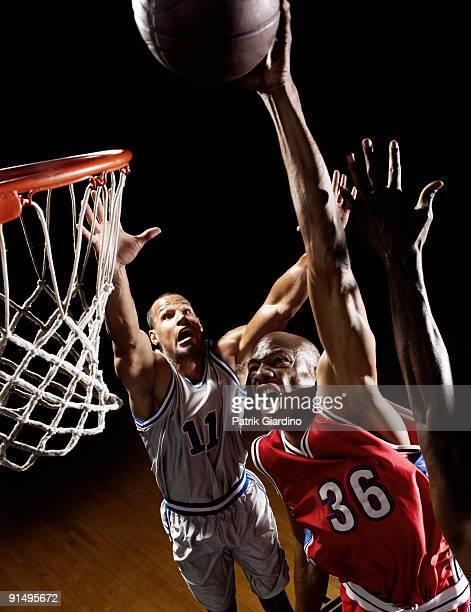 African basketball player scoring