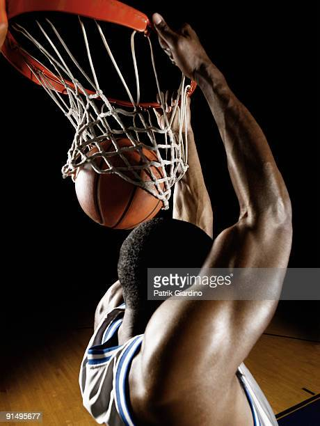 African basketball player scoring