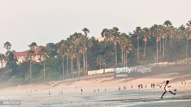 African beach.
