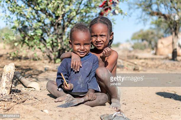 African boy and girl