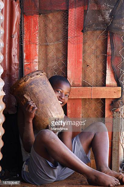 African boy tribal drum South Africa