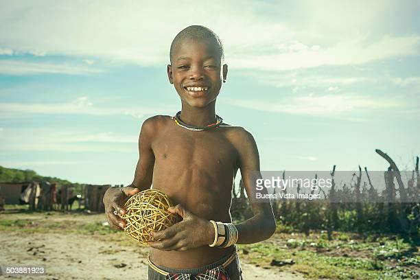 african boy with a rudimental ball
