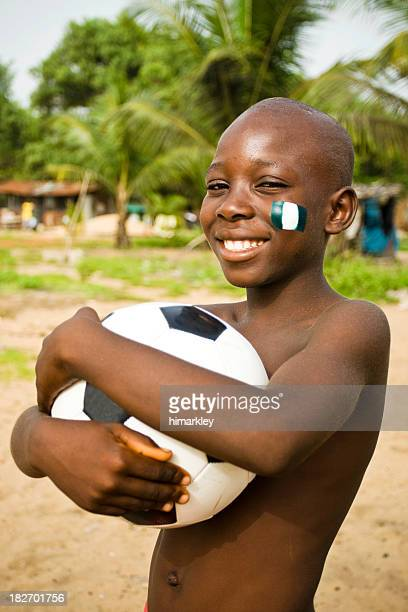 African Boy With Soccer Ball