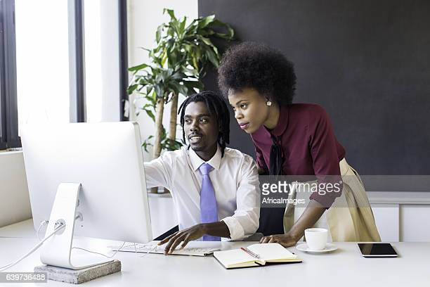 African business partners working togther.