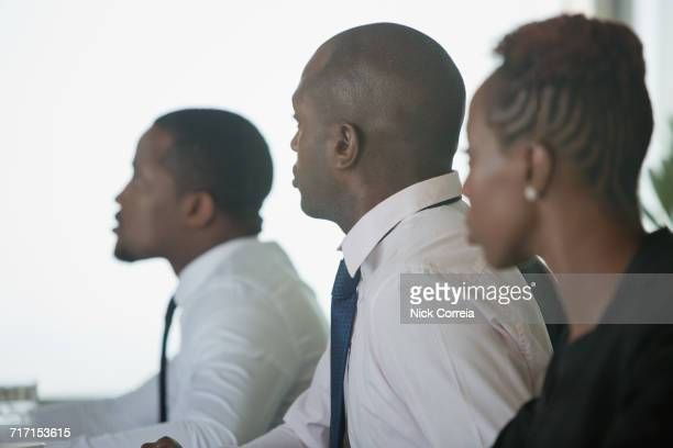 African business people sitting at the conference room