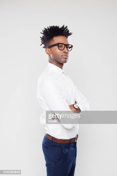 african businessman looking away - looking away stock pictures, royalty-free photos & images