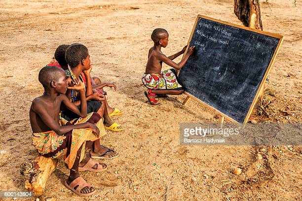 African children during English class, East Africa