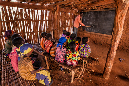 African children during english class, southern Ethiopia, East Africa 1093177328