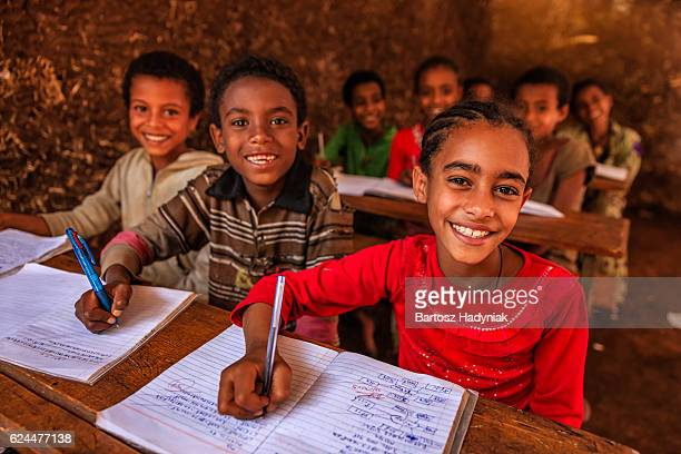African children during the class, East Africa