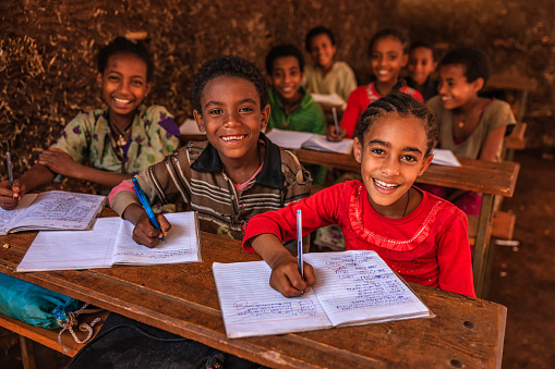 African children during the class, East Africa 845129638