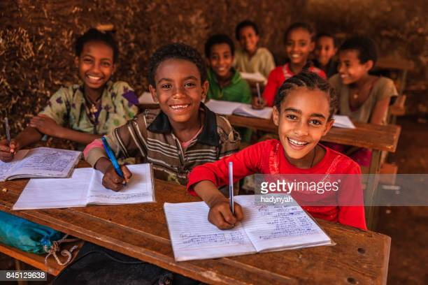 african children during the class, east africa - village stock pictures, royalty-free photos & images