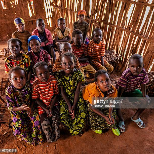 African children inside classroom, southern Ethiopia, East Africa