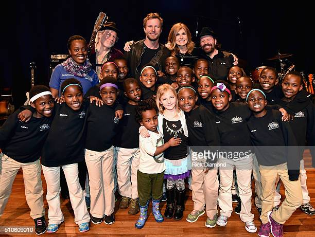 African Children's Choir Lydia Singers/Songwriters Buddy Miller and Dierks Bentley with ABC Nashville's Connie Britton and Recording Artist Colin...