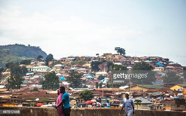 african city. abuja, nigeria. - abuja stock pictures, royalty-free photos & images