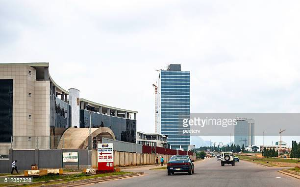 african city. abuja, nigeria. - abuja stock photos and pictures