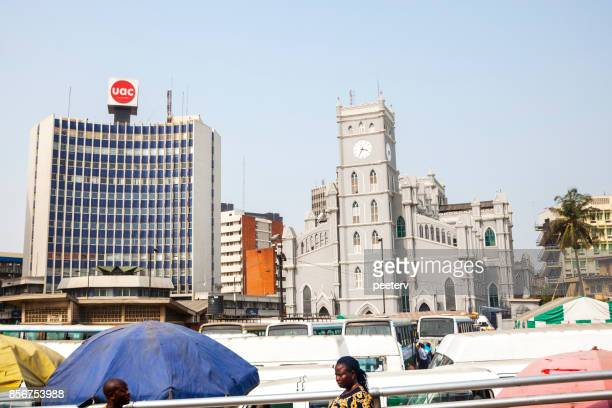 afrikaanse stad - lagos, nigeria - lagos nigeria stockfoto's en -beelden