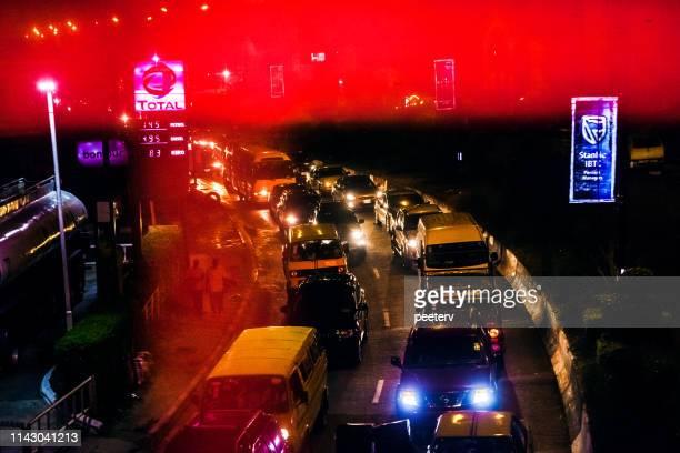 African city night traffic - Lagos, Nigeria