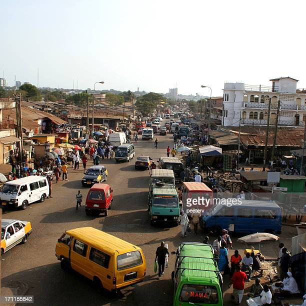 african city traffic. - ghana stock pictures, royalty-free photos & images