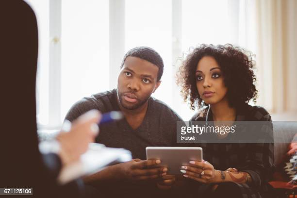African couple in meeting with financial advisor