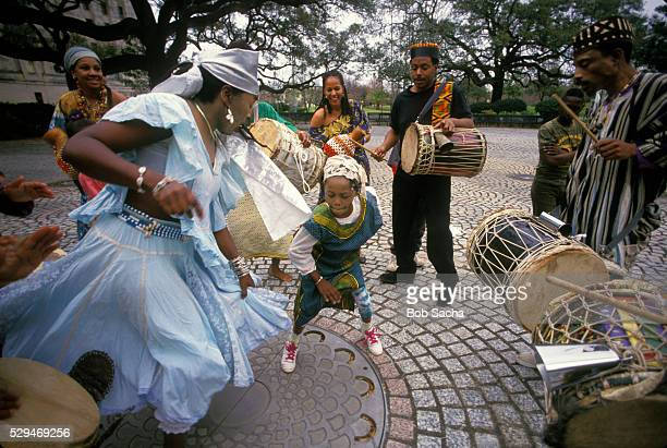 african dance group at congo square - new orleans stock pictures, royalty-free photos & images