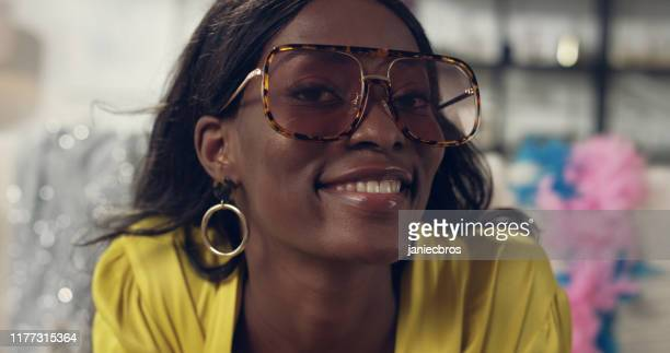 african ethniicity woman making faces to a camera. funny eyewear - seduction stock pictures, royalty-free photos & images