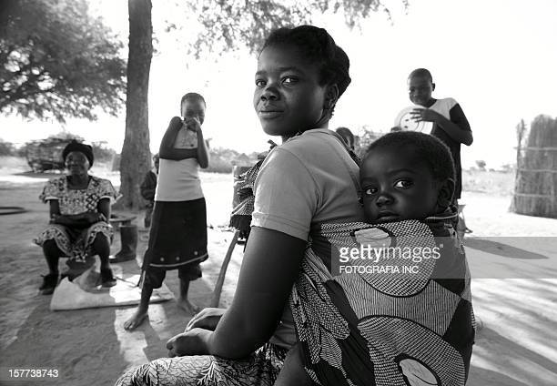 african family at the homestead - zambia stock pictures, royalty-free photos & images