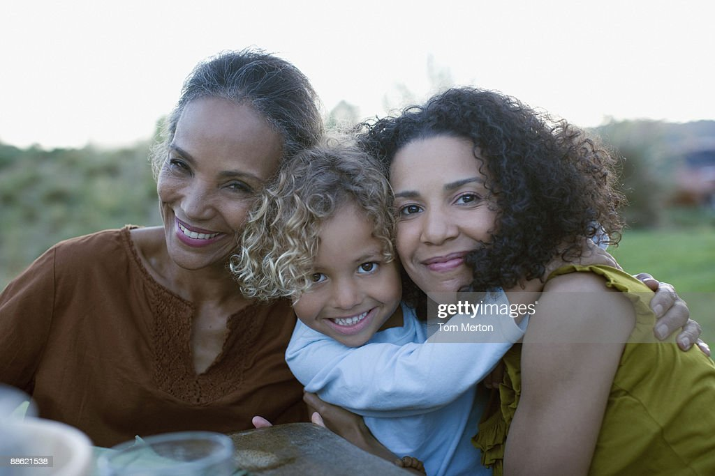 African family hugging : Stock Photo