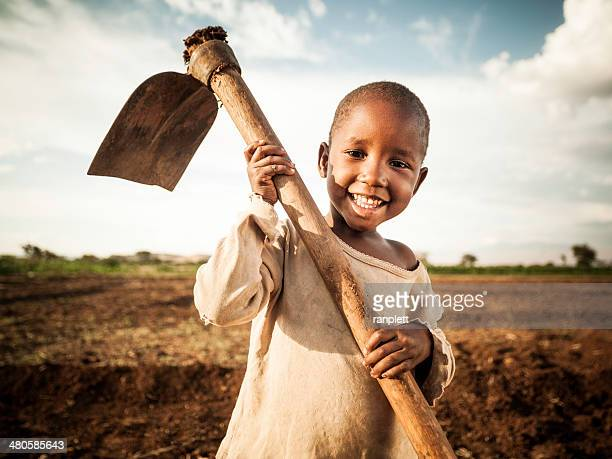 african farm girl - poor africans stock pictures, royalty-free photos & images
