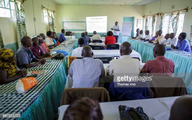African farmers during a training course in dairy farming with the focus on 'weather data via SMS' at the Bukura Agricultural Training Center in...