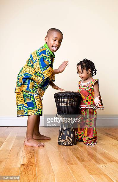 african fashion, fun - native african girls stock photos and pictures